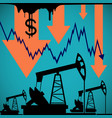 pumps for oil extraction graph a decrease the vector image