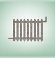 radiator sign brown flax icon on green vector image vector image