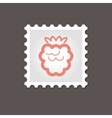 Raspberry stamp Outline vector image vector image