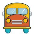 schoolbus icon cartoon style vector image vector image