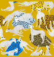 seamless pattern with hand drawn greyhounds vector image vector image