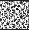 seamless pattern with magnolia tree blossom in vector image