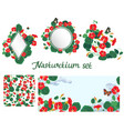 set design elements elements with nasturtium vector image