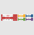 set of boarding passes vector image vector image