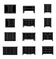set of chests of drawers vector image