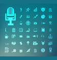 Set of icons Retina vector image vector image