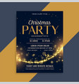 shiny christmas golden sparkles party flyer vector image vector image