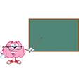 Smart brain teaching vector image vector image