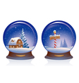 Snow globes vector image vector image