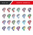 spirit rising fist hand north america flag vector image