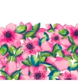 spring watercolor with colorful flowers sacura vector image vector image