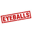 square grunge red eyeballs stamp vector image vector image