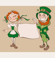 st patricks day festival young woman and man vector image vector image