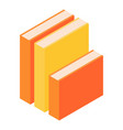 stack of books icon isometric style vector image vector image