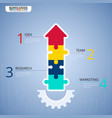step to success business concept infographic vector image