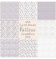Stock hand drawn seamless patterns vector image