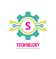 technology letter s - logo template concept vector image vector image
