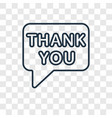 thank you concept linear icon isolated on vector image vector image