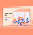 thanksgiving day web banner vector image vector image