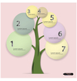 tree infographic template vector image vector image
