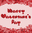 Valentines day card made with red heart font vector image vector image