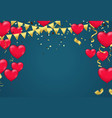 valentines day template realistic air balloons in vector image vector image