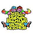 vegan phrase about peace graffiti lettering print vector image