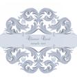 Vintage Baroque card vector image