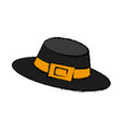 vintage hat male vector image vector image