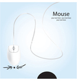 web mouse vector image