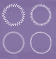 Wreaths Collection vector image vector image