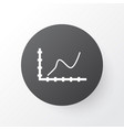 increase icon symbol premium quality isolated vector image