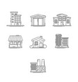 buildings outline set vector image