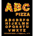 ABC Pizza Appetizing letters from fast food Edible vector image