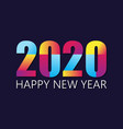 2020 happy new year insta color banner vector image vector image