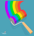 aibow paint roller vector image vector image