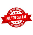 all you can eat ribbon all you can eat round red vector image vector image