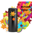 Autumn Marketing Design on Can vector image vector image