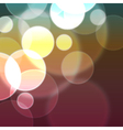 background bokeh vector image vector image