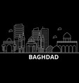 baghdad silhouette skyline iraq - baghdad vector image