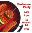 barbecue party flyer invitation bannerflat style vector image vector image