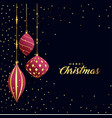 beautiful premium merry christmas greeting vector image vector image