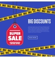 Big discount banner with sale sticker vector image vector image