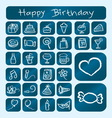 Birthday Icons Chalk Drawing Style vector image vector image