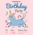 birthday party invitation poster