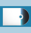 blank cd with cover template eps 10 vector image vector image