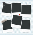 blank photo frame set vector image
