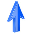 blue arrow 3d up sign vector image vector image