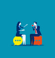 business people meeting talking concept vector image vector image