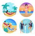 business summer seaside set vector image vector image